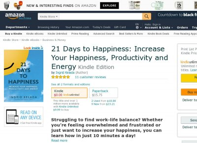 21 Days to Happiness Increase Your Happiness, Productivity and Energy