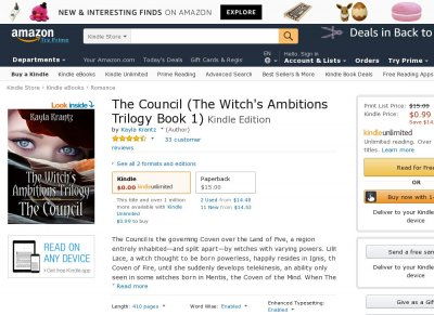 The Council - The Witch's Ambitions Trilogy 1