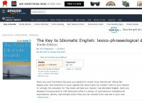 The Key to Idiomatic English lexico-phraseological dictionary matching over 12,000 words and expressions