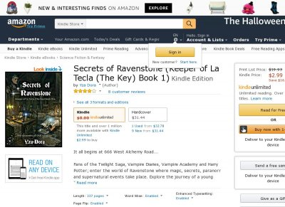 Secrets of Ravenstone (Keeper of La Tecla (The Key) Book One)