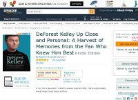DeForest Kelley Up Close and Personal: A Harvest of Memories from the Fan Who Knew Him Best