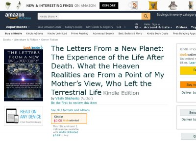 The Letters From a New Planet: The Experience of the Life After Death. What the Heaven Realities are From a Point of My Mothers View, Who Left the Terrestrial Life.