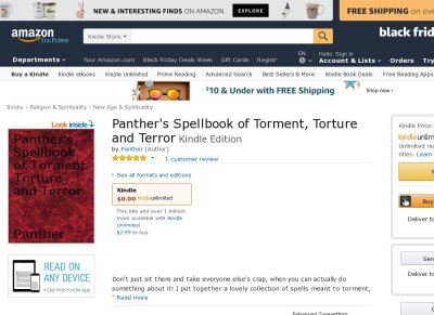 Panther's Spellbook of Torment, Torture, and Terror