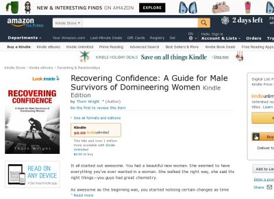 Recovering Confidence A Guide for Male Survivors of Domineering Women