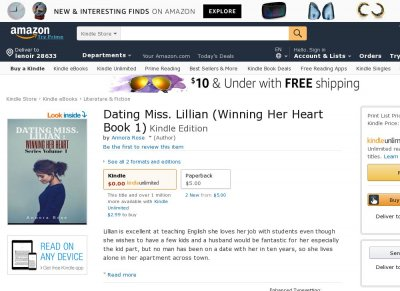 Dating Miss. Lillian Winning Her Heart Series Volume 1