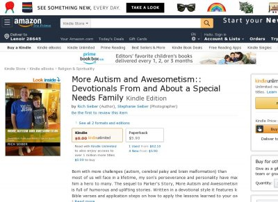 More Autism  Awesometism Devotionals From and About a Special Needs Family